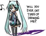 Miku complains