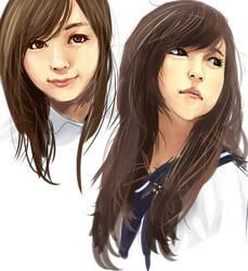 Asian Girl Portrait Practice by NickBeja