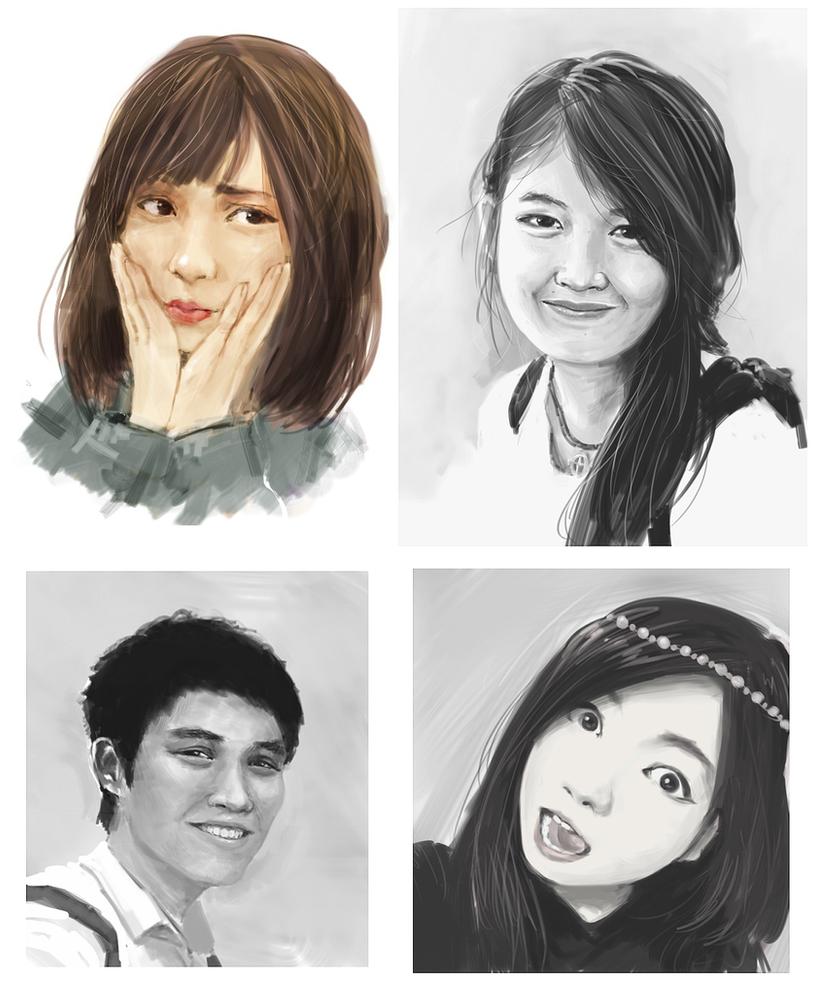 Portrait studiessss by NickBeja