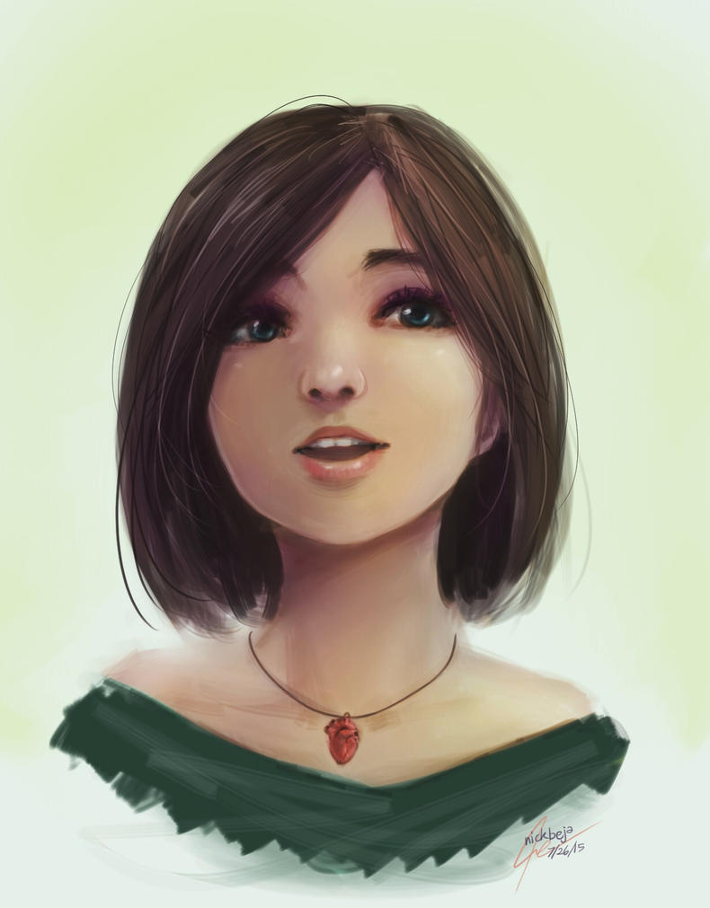 Practice Girl Sketch by NickBeja