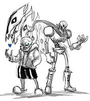 Sans Papyrus by NickBeja
