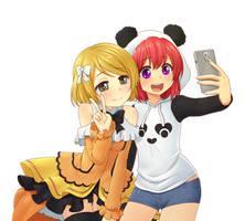 Hanayo and Asiana selfie by NickBeja