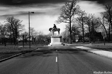 statue on Belle Ile