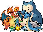 Ash's Orange League Team by Flamejow