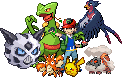 Ash's Hoenn Team Sprite by Flamejow