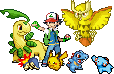 Ash's Johto Team by Flamejow
