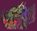 Time Travelling Lizards Ship by KatrinaTheLamia