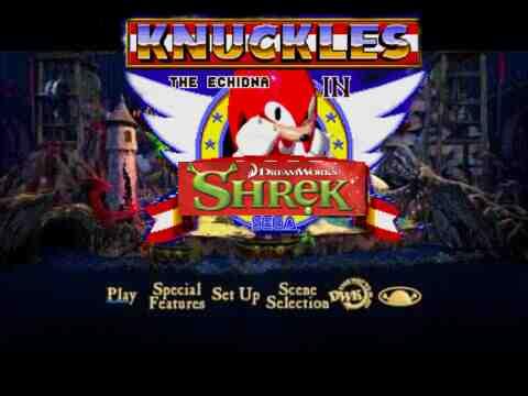 Shrek The Third And Knuckles Dvd Menu By Katrinathelamia On Deviantart