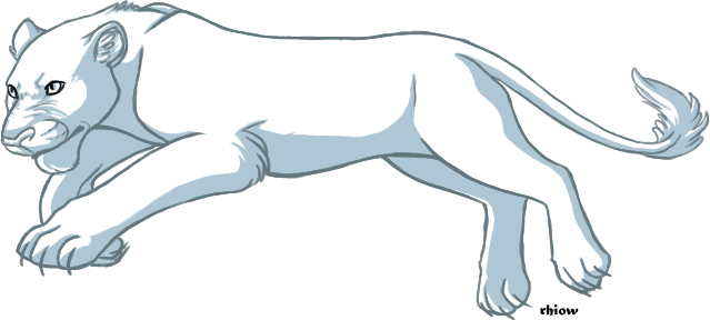 Female Lion Template - Pounce by rhiow