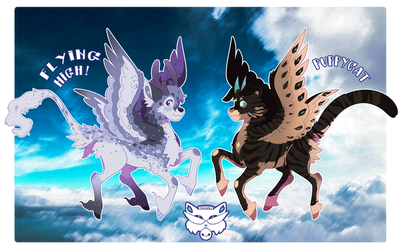 POUFLONS:Flying High + Puppycat [AUCTION] [Closed] by rhiow