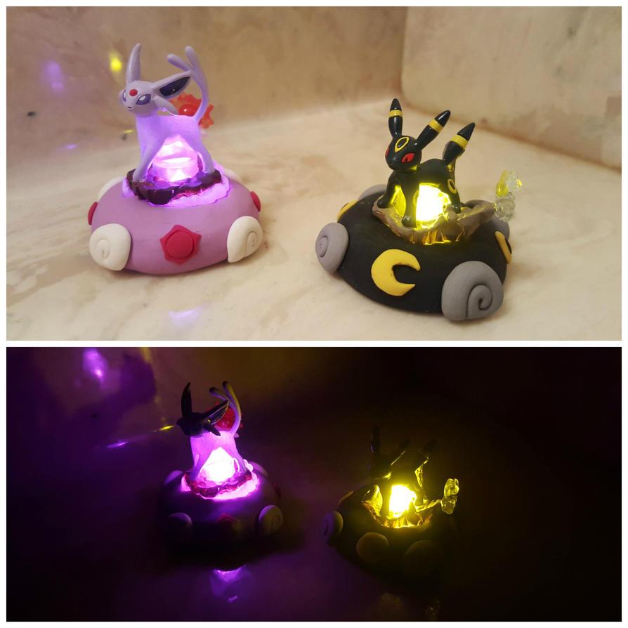 Espeon and Umbreon Light Up Figures by Kyreon