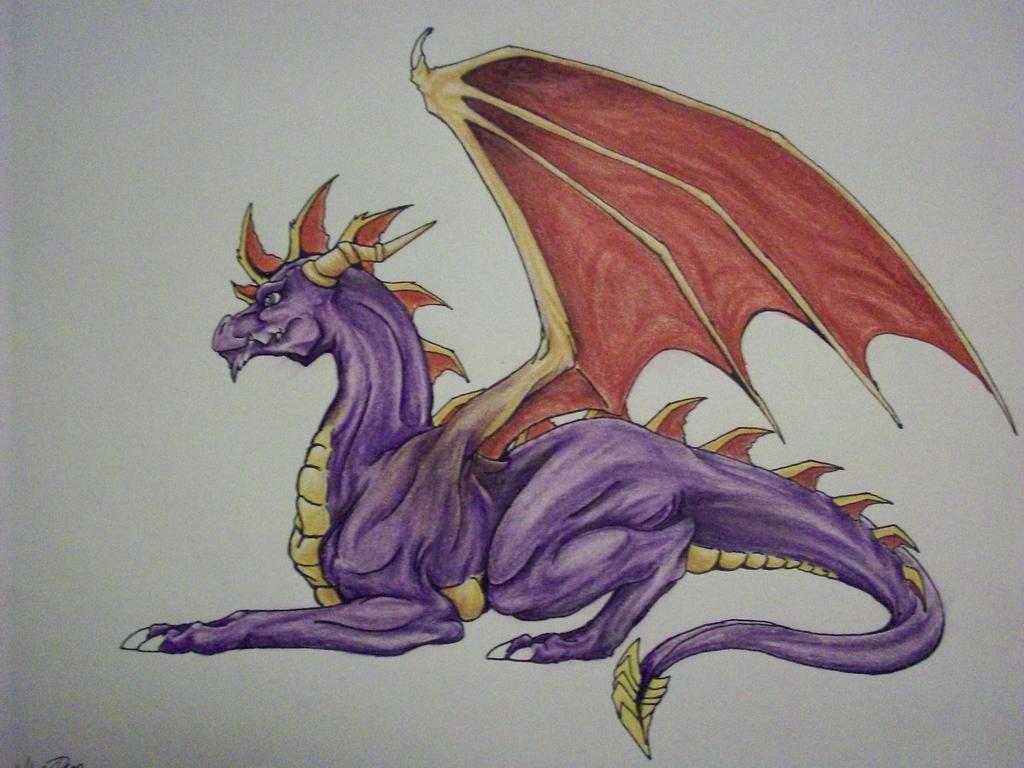 Spyro Grown Up by RegalDragon