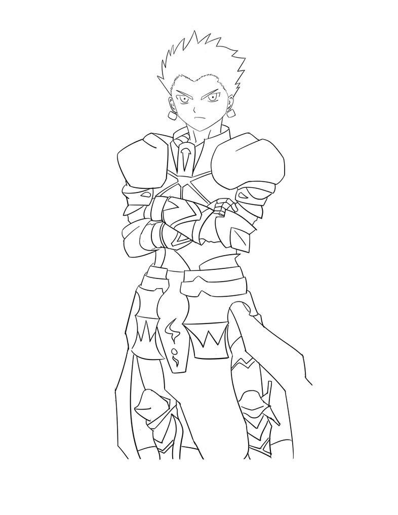 Line Art Zero : Gilgamesh fate zero line art by chibiivan chan on deviantart