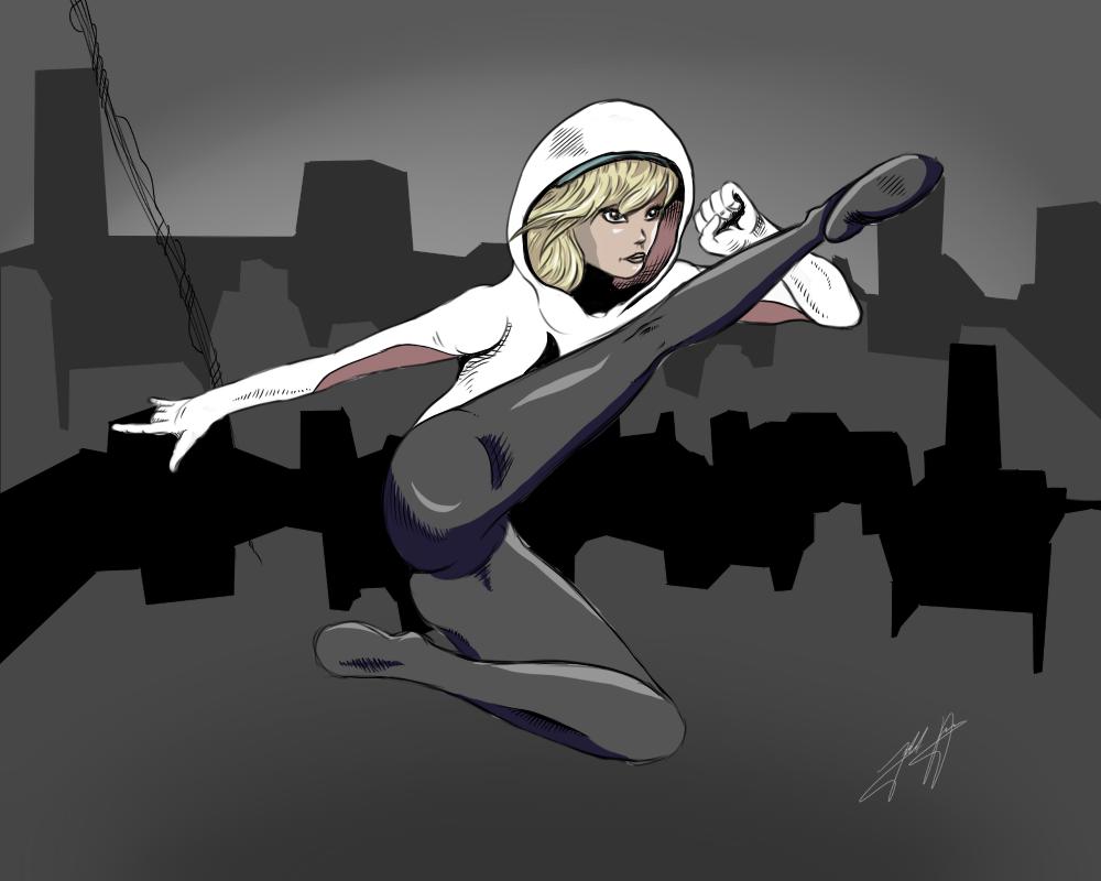 Spider Gwen by jakobdam