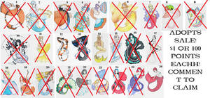 Closed Mermaid Adopt Batch Sale - $1 or 100 points