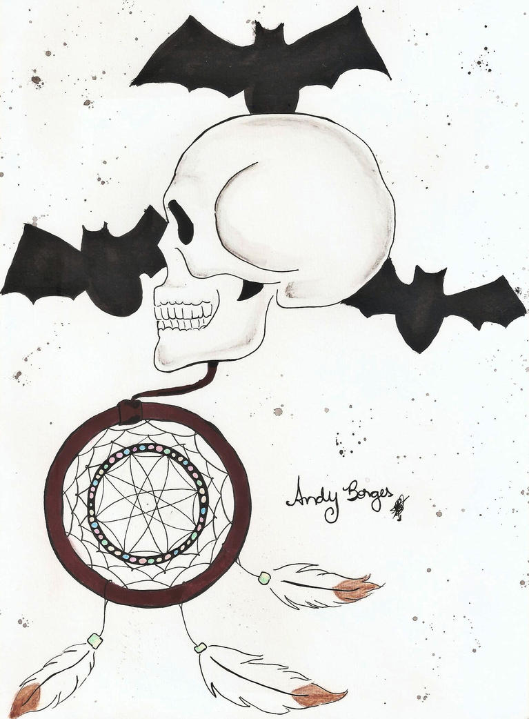 Skull and dream catcher by AndyBorges