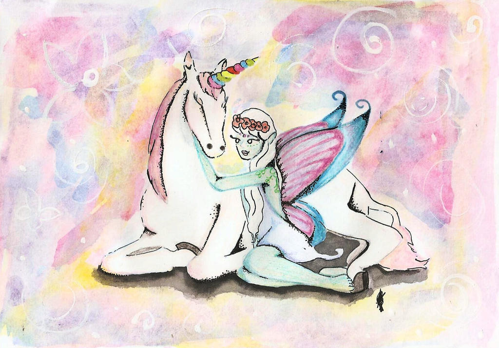 Unicorn and Fairy by AndyBorges