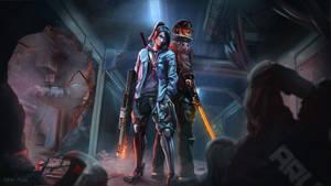 Cyberpunk night shift