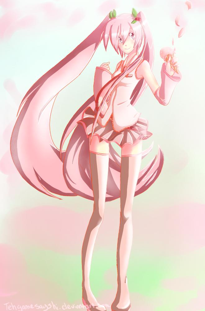 Sakura Miku by tehgamesayshi