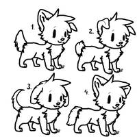 Free Puppy Lineart c: by Squirrelings