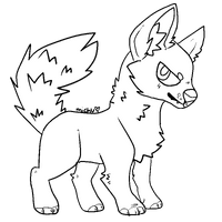 Free dog/wolf lineart -rules below- by Squirrelings