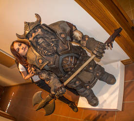 Ceramic Dwarf 8 and the girl :) by Mingrune