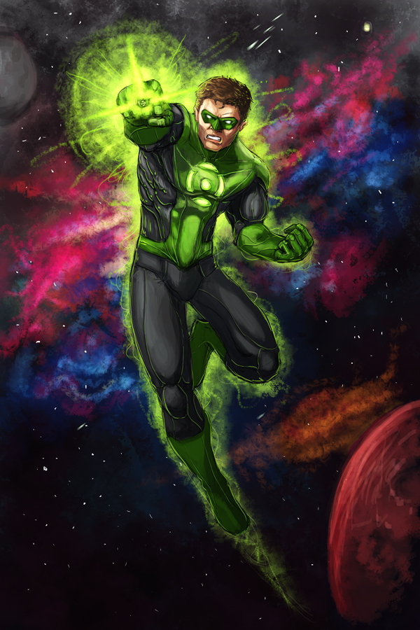 Green Lantern...IN SPACE by xashe