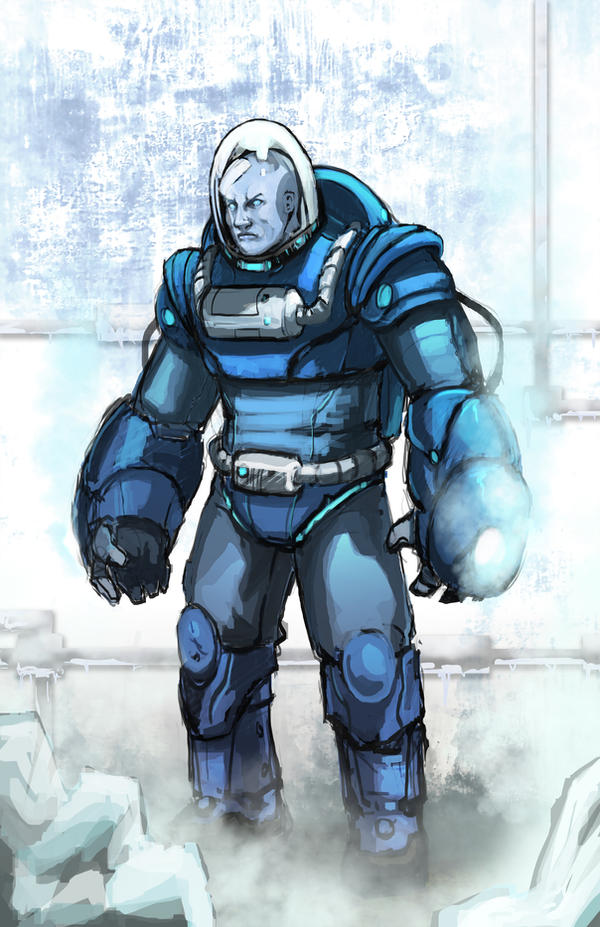 mr freeze wip by xashe on deviantart