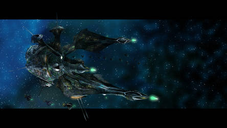Hydra-class cruiser by CaptainIdle