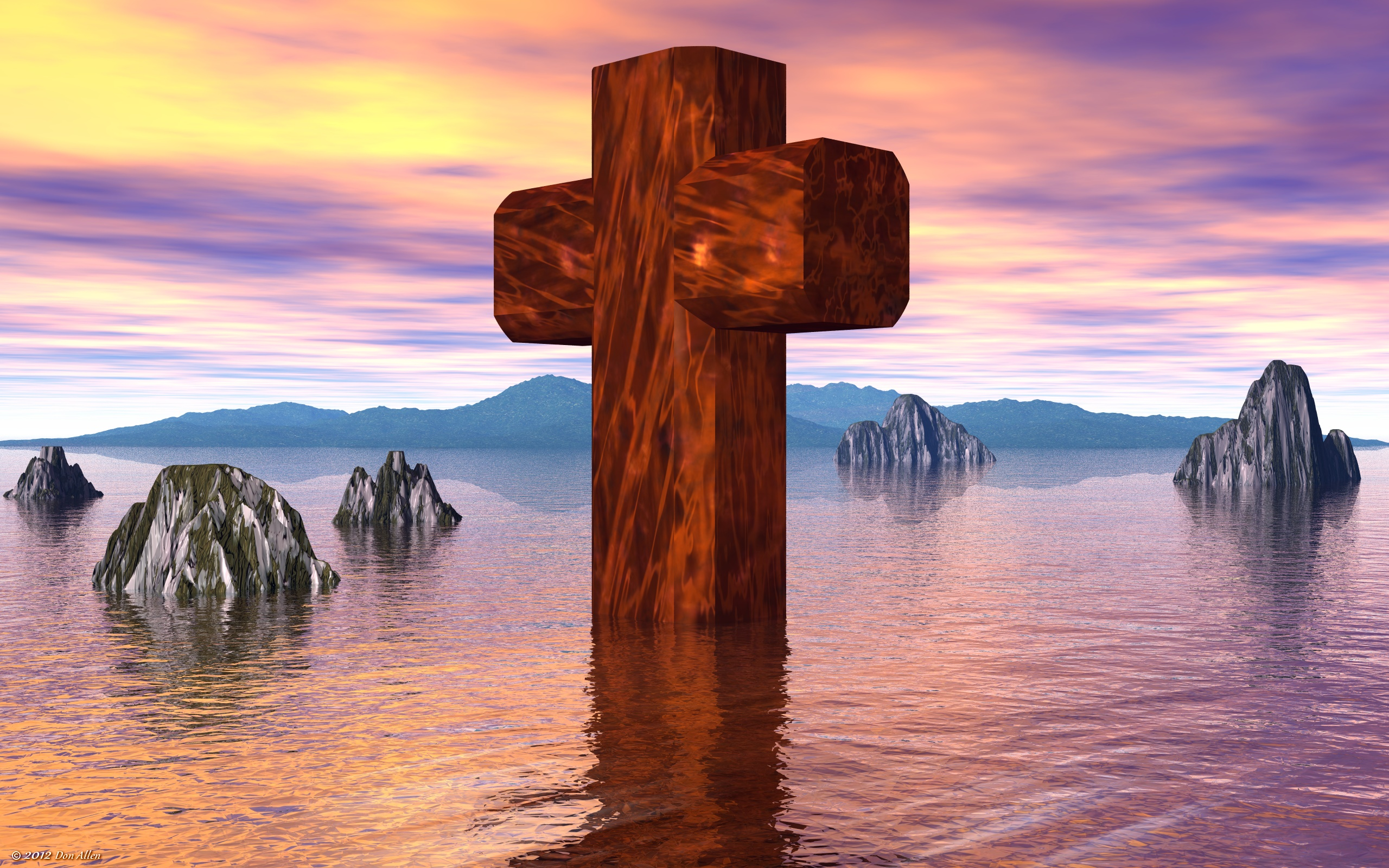 The Old Rugged Cross Wide By Don64738