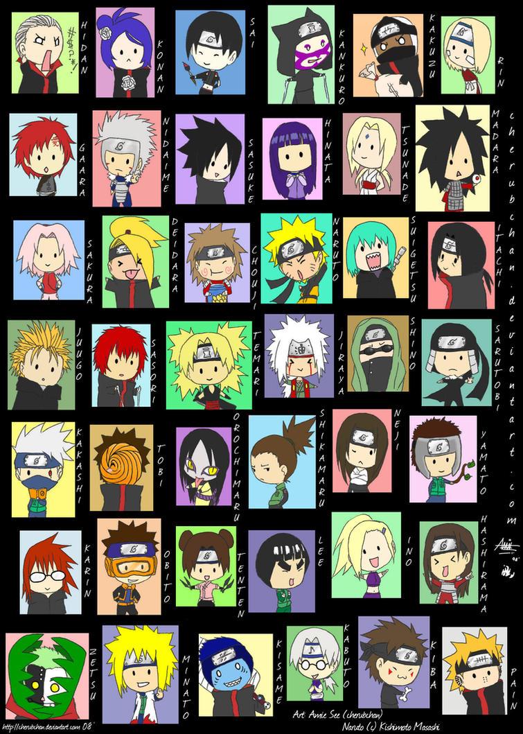 Naruto Chibi Madness By Cherubchan