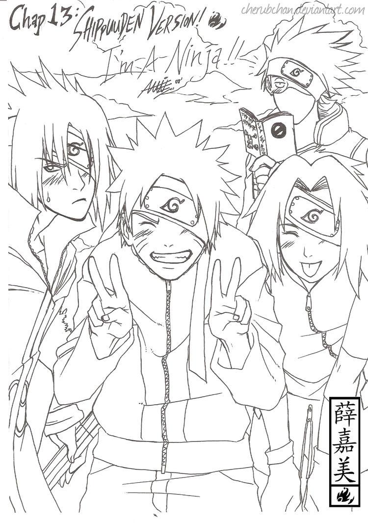 Naruto Pencil Coloring Coloring Pages