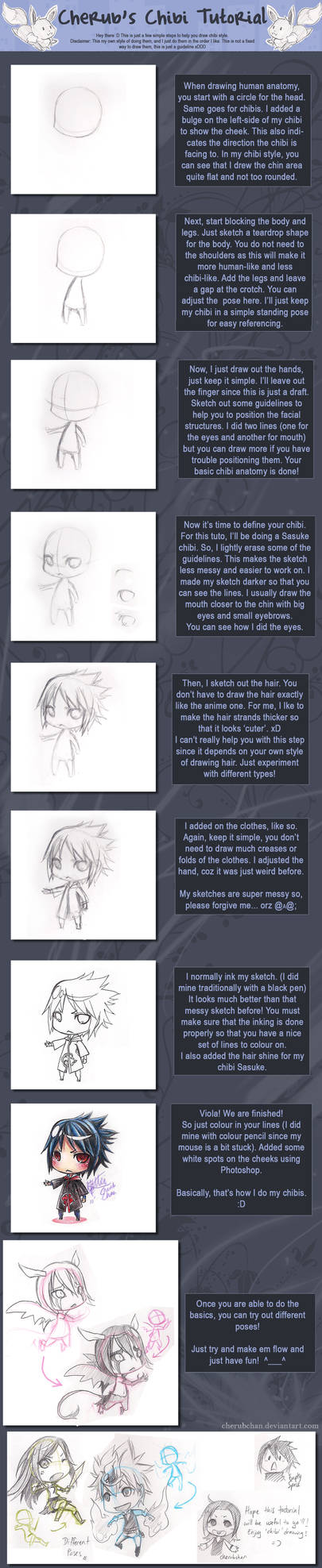 Chibi Tutorial by cherubchan