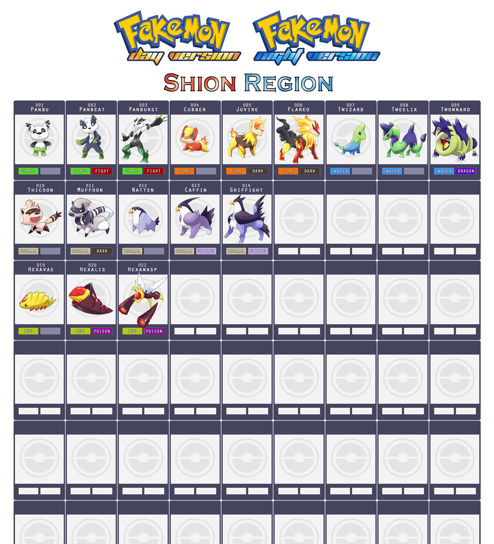 Shion Region Fakedex by cherubchan