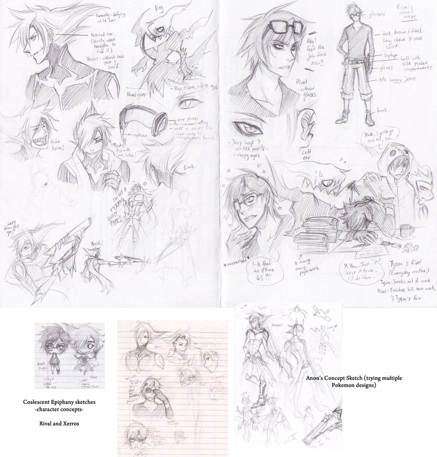 Rival-Xerros Concept sketches by cherubchan