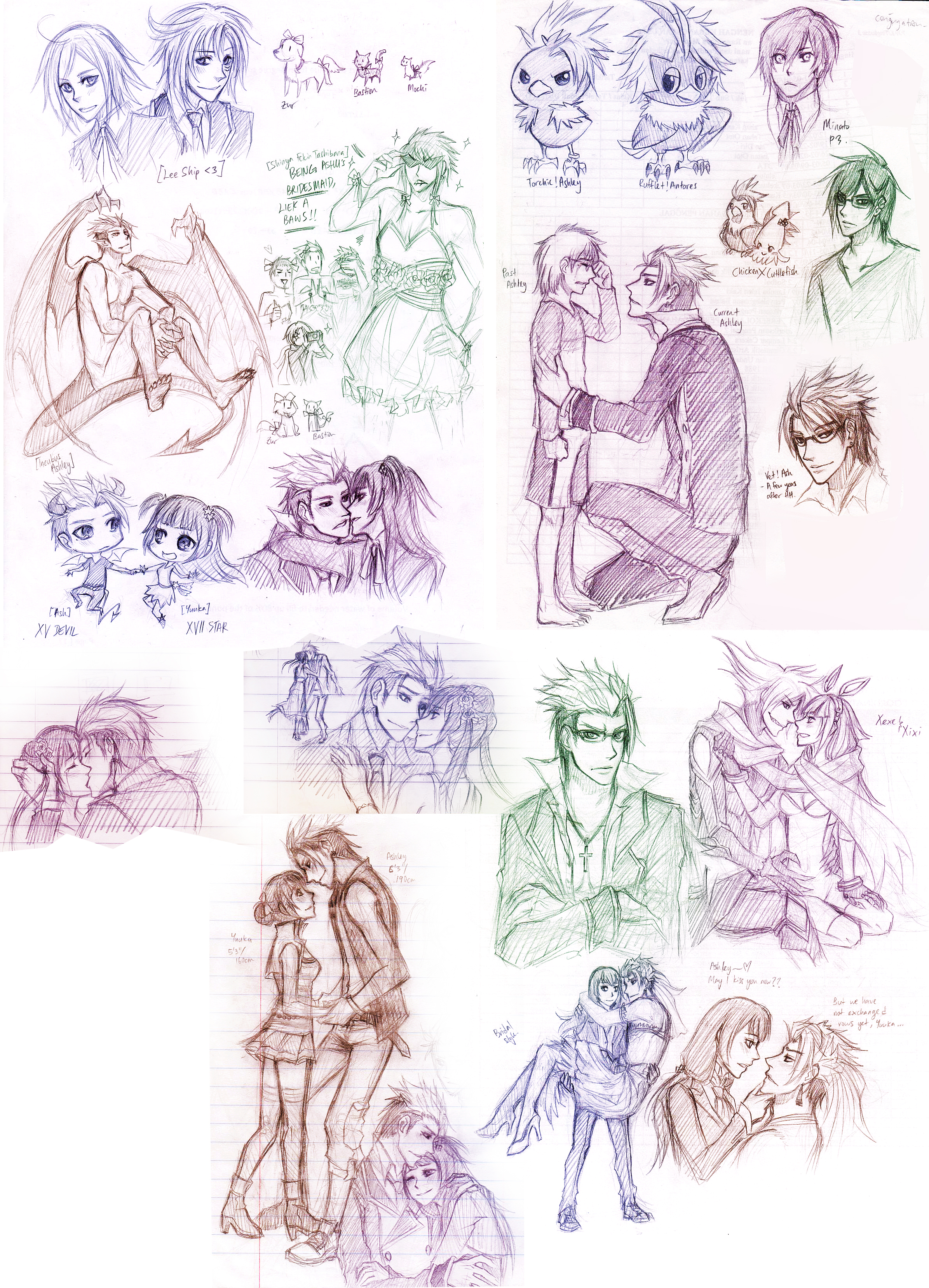 Sketch Dump 04032012 By Cherubchan On DeviantArt