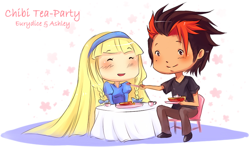 MM: Chibi Tea-Party by cherubchan