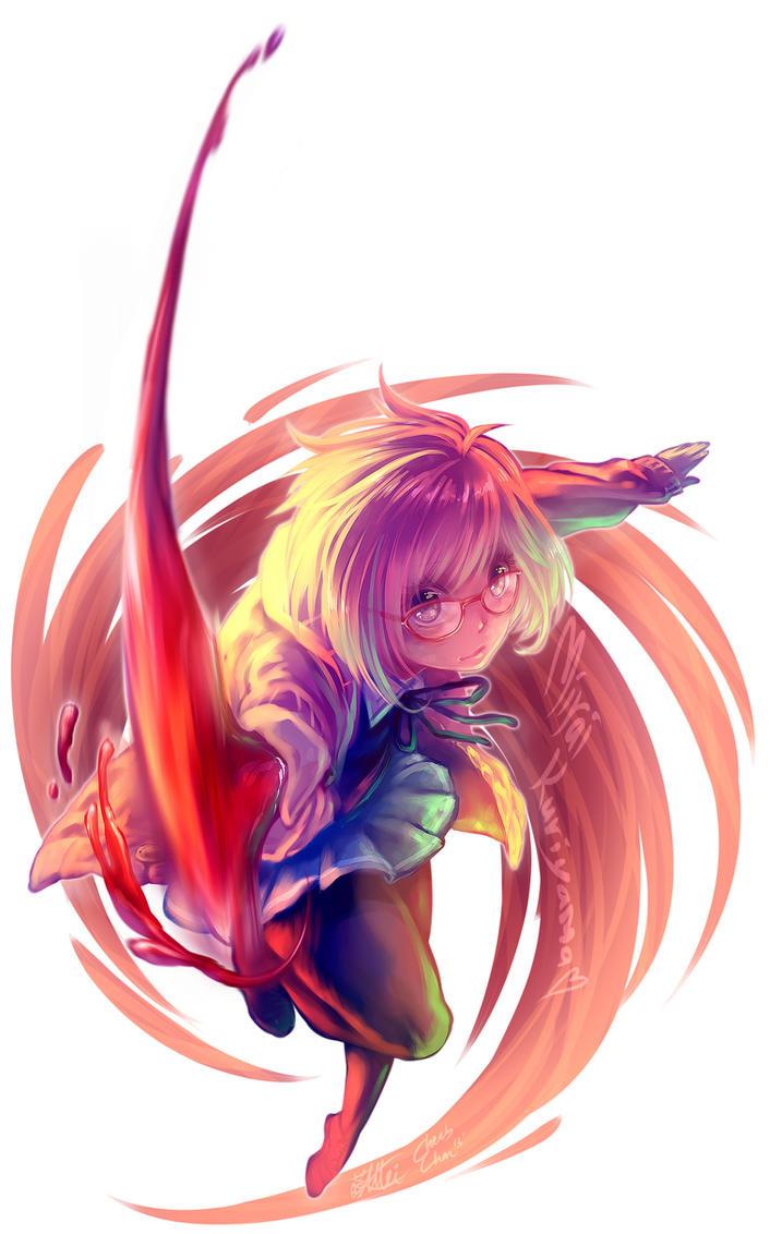 Kyoukai no Kanata: Mirai Kuriyama by cherubchan