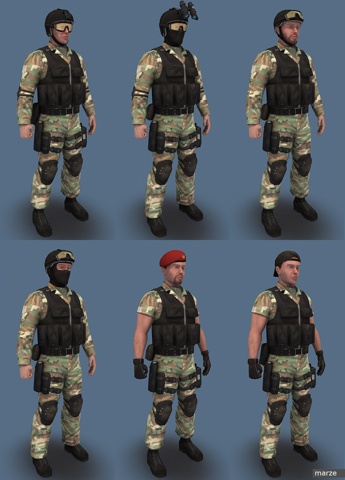 Blue Team Woodland02 by marze3d