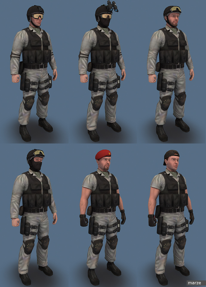 Blue Team Woodland06 by marze3d