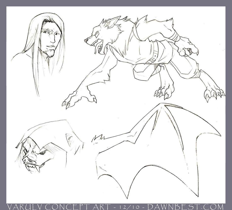 Varulv Sketches 1 by dawnbest