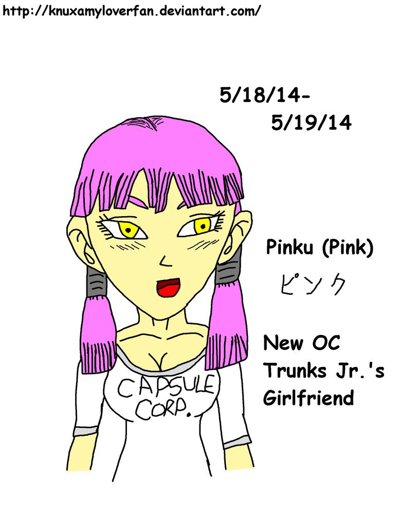 DBZ: New OC Pinku -Colored- by Knuxamyloverfan