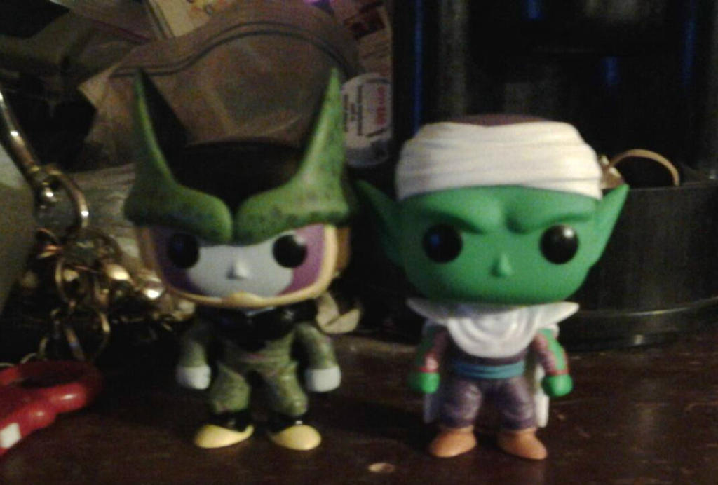 Cell And Piccolo Pop Figures by Knuxamyloverfan