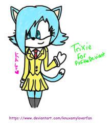 Art Trade: Trixie the Cat by Knuxamyloverfan