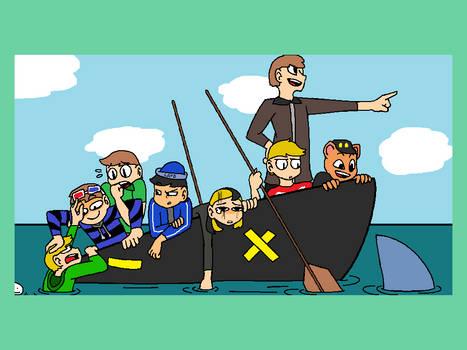 L'Manbergians In A Boat