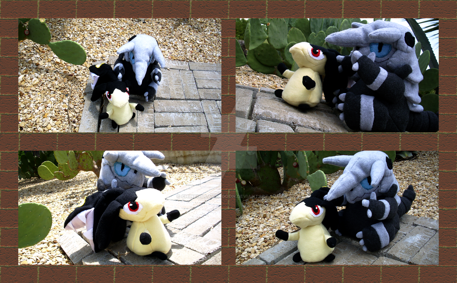 Mawile and Aggron plushies. by ChinchillaDragoon
