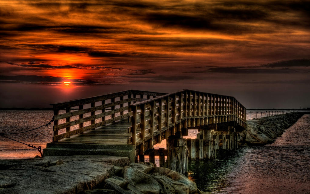 lovely-sunset-bridge by poisen2014
