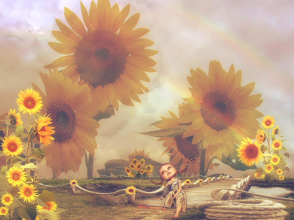 the Land of Sunflowers by Libra-Heart