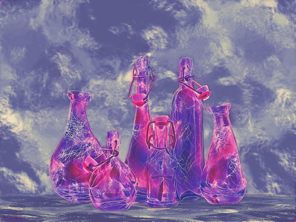 abstract Bottles by poisen2014