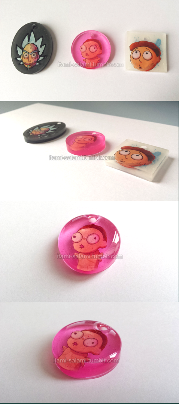 Rick and Morty Charms TEST by itami-salami